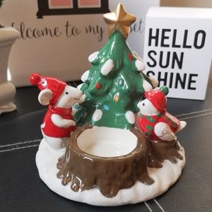PartyLite Merry Mouse Candle Holder, NWT